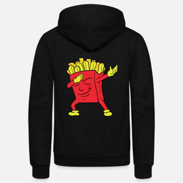 Currywurst Dabbing Dab Pommes frites French fries - Unisex Fleece Zip Hoodie