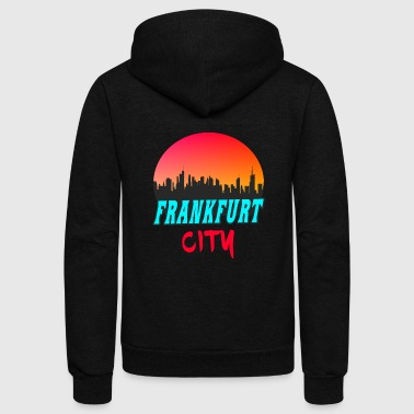 Frankfurt City - Unisex Fleece Zip Hoodie