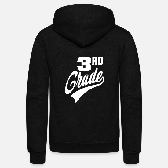 Third Hoodies & Sweatshirts - 3rd Grade - Unisex Fleece Zip Hoodie black