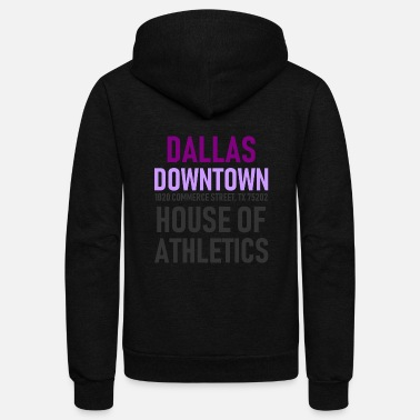 Dallas - Downtown - House of Athletics - Texas - Unisex Fleece Zip Hoodie