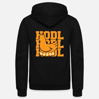 Internet Bitcoin, Hodl and a Chicken - Unisex Fleece Zip Hoodie