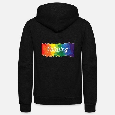 Color Coloring - Coloring - Unisex Fleece Zip Hoodie