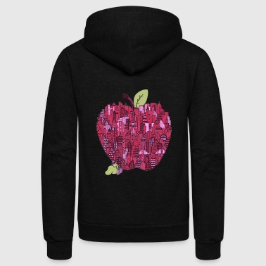 Little Worm Big Apple - Unisex Fleece Zip Hoodie