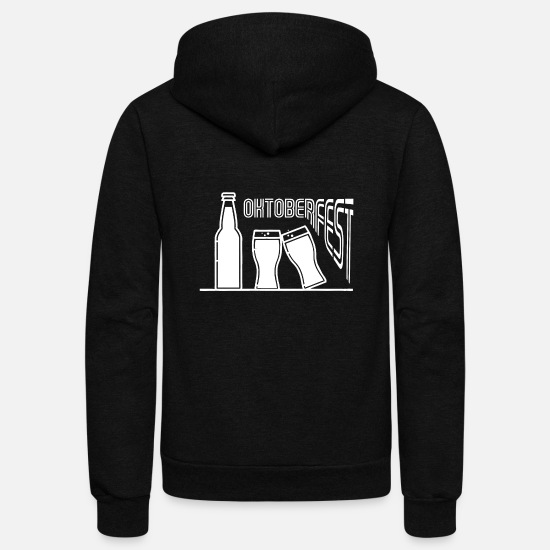 Alcohol Hoodies & Sweatshirts - Bavarian Oktoberfest - Unisex Fleece Zip Hoodie black