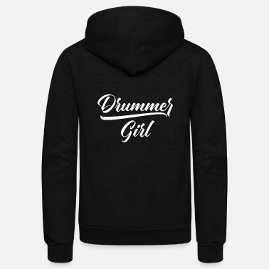 Christmas Drummer girl drum drums drummer music - Unisex Fleece Zip Hoodie