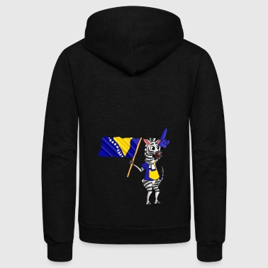 A Bosnian or Herzegovinian Zebra - Unisex Fleece Zip Hoodie