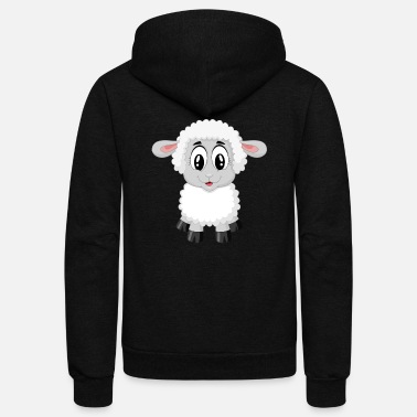 Lamb lamb sheep - Unisex Fleece Zip Hoodie