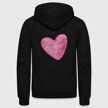 Big Heart - Unisex Fleece Zip Hoodie
