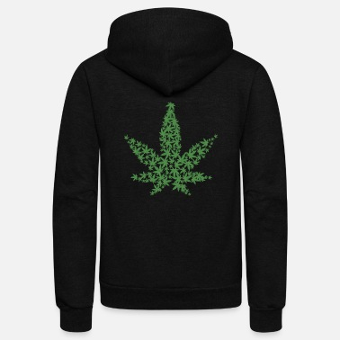 Medicinal Plant Cannabis One Love 420 Natural Medicinal Plant Leaf - Unisex Fleece Zip Hoodie