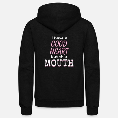 Mouth this mouth - Unisex Fleece Zip Hoodie