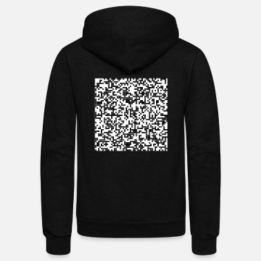 Pixelated pixel - Unisex Fleece Zip Hoodie