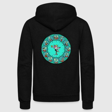 ganesha mythology - Unisex Fleece Zip Hoodie