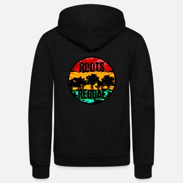 Africa roots reggae0711 - Unisex Fleece Zip Hoodie