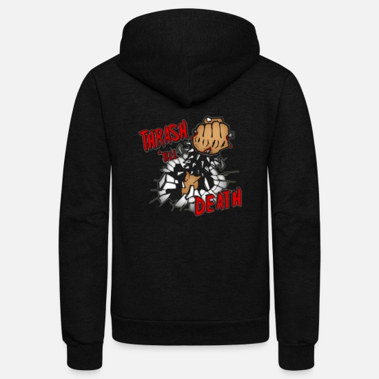 Thrash Hoodies & Sweatshirts - Thrash Death - Unisex Fleece Zip Hoodie black