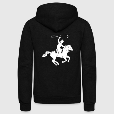 Horseman In The Fall - Unisex Fleece Zip Hoodie