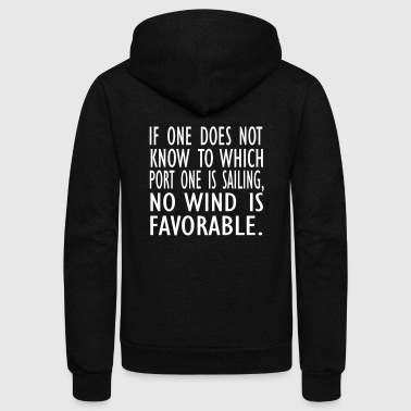 no wind is fav - Unisex Fleece Zip Hoodie