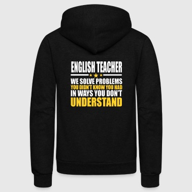 English Teacher T-shirt - Unisex Fleece Zip Hoodie