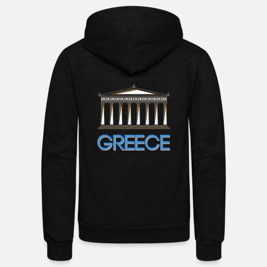 Greece Hoodies & Sweatshirts - Greece - Unisex Fleece Zip Hoodie black