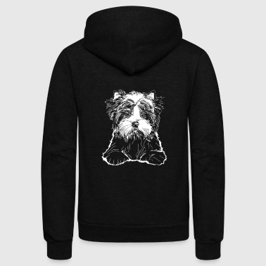 Valentino Biewer Terrier Puppy - Unisex Fleece Zip Hoodie