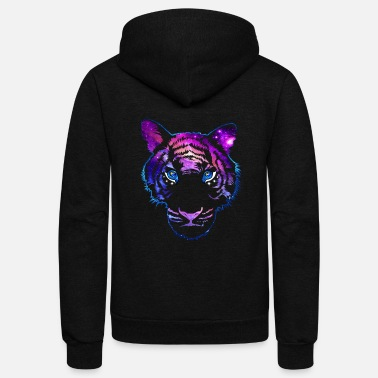 Tiger galaxy - Unisex Fleece Zip Hoodie
