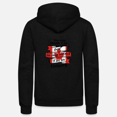 Calgary URLAUB HOME ROOTS TRAVEL Kanada Canada Calgary - Unisex Fleece Zip Hoodie