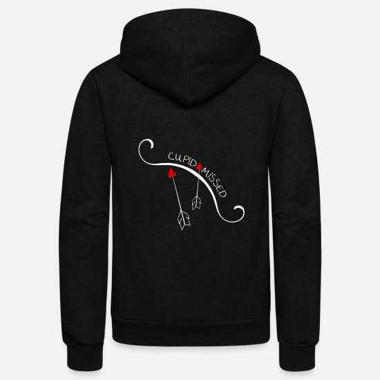 Love Hoodies & Sweatshirts - arrows - Unisex Fleece Zip Hoodie black