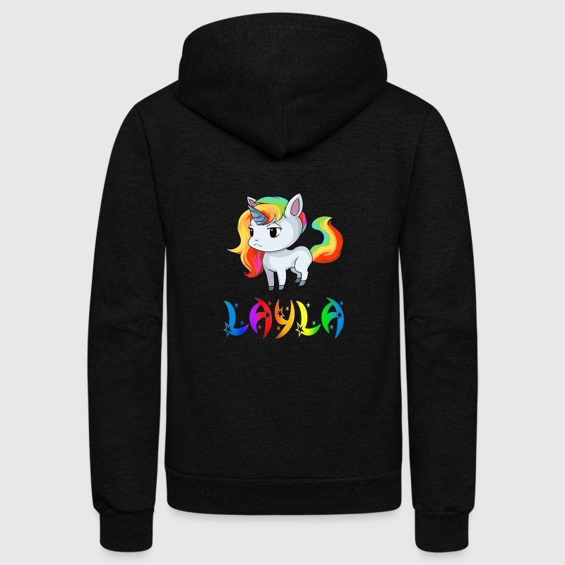 Layla Unicorn - Unisex Fleece Zip Hoodie