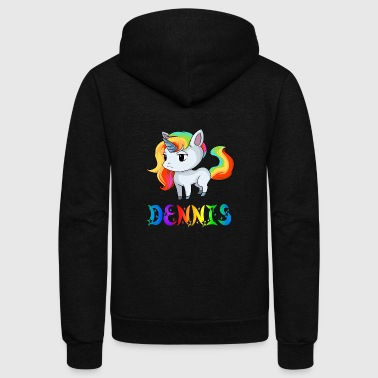 Dennis Dennis Unicorn - Unisex Fleece Zip Hoodie