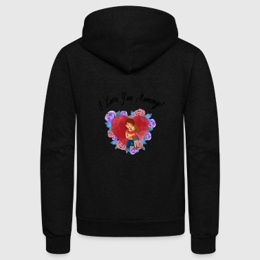 I Love You Mommy b - Unisex Fleece Zip Hoodie