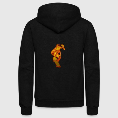 Glowing Skateboarder - Unisex Fleece Zip Hoodie