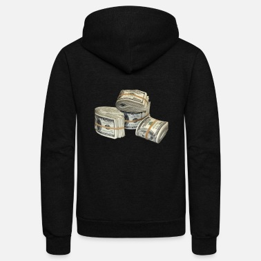 Money Money Stack - Unisex Fleece Zip Hoodie