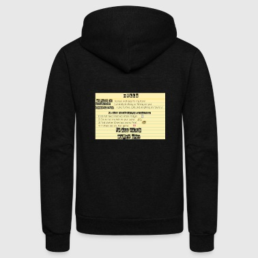 HELLO MY NAME IS - Unisex Fleece Zip Hoodie