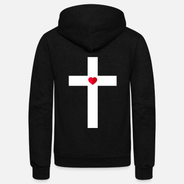 Cross The Cross - Unisex Fleece Zip Hoodie