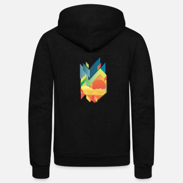 Gradient Gradient Mountain - Unisex Fleece Zip Hoodie