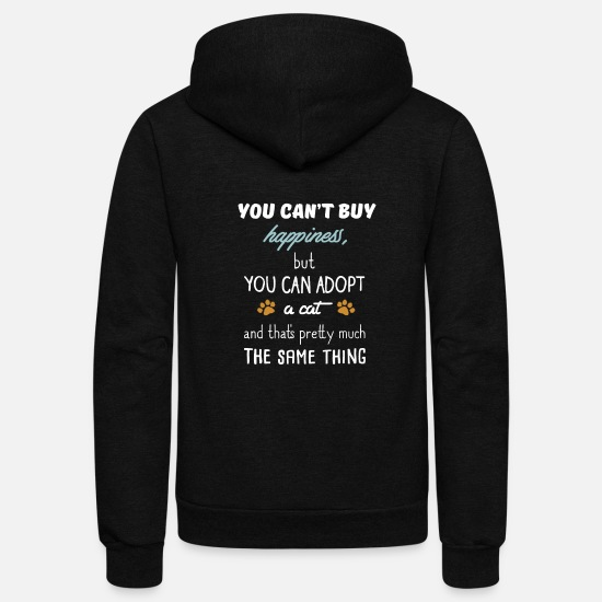 Cats Hoodies & Sweatshirts - cat - Unisex Fleece Zip Hoodie black