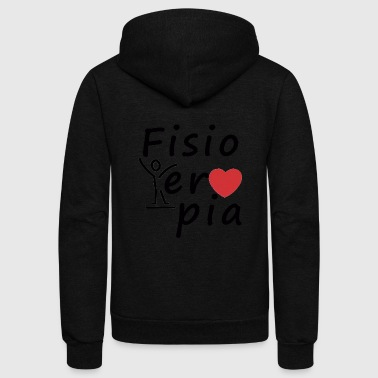 I love physical therapy - Unisex Fleece Zip Hoodie