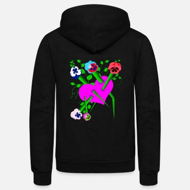 Spiny flowers stab the heart - Unisex Fleece Zip Hoodie