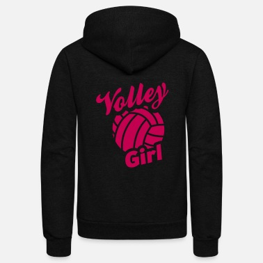 Volley volley girl - Unisex Fleece Zip Hoodie