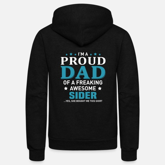 Father And Son Hoodies & Sweatshirts - Sider - Unisex Fleece Zip Hoodie black