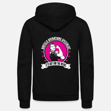 Airfield Airfield Operations Specialist - Unisex Fleece Zip Hoodie