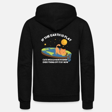 Conspiracy Cats / Flat Earth / Funny Conspiracy - Unisex Fleece Zip Hoodie