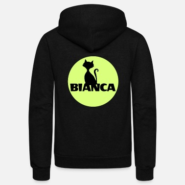 First Name Bianca name first name - Unisex Fleece Zip Hoodie