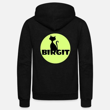 Name Day Birgit Name first name - Unisex Fleece Zip Hoodie