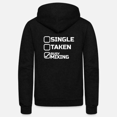 Dj DJ Single - Unisex Fleece Zip Hoodie