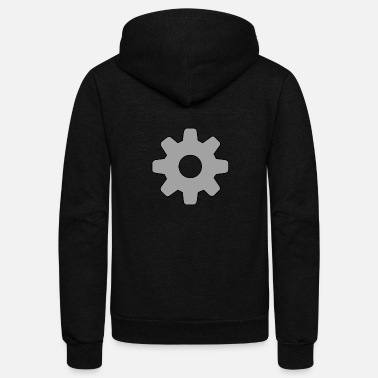 Grey Gear T-Shirt - Unisex Fleece Zip Hoodie