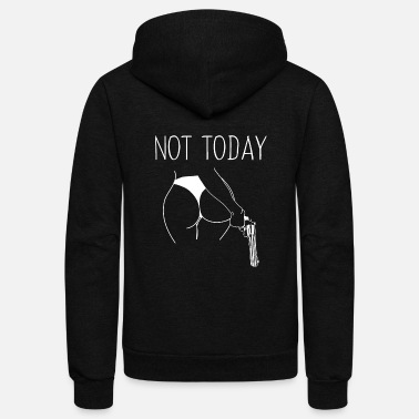 Not today Satan - Unisex Fleece Zip Hoodie