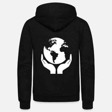Eco eco world - Unisex Fleece Zip Hoodie