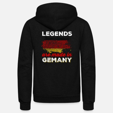 Germany Legends Are Made in Germany - Unisex Fleece Zip Hoodie