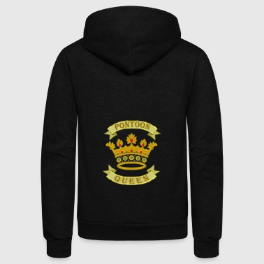 Pontoon Queen - Unisex Fleece Zip Hoodie