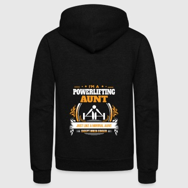 Powerlifting Aunt Shirt Gift Idea - Unisex Fleece Zip Hoodie